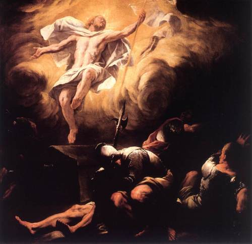 "Luca Giordano, ""Resurrection"" (after 1665)"